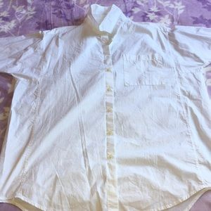 Madewell white button down shirt for women